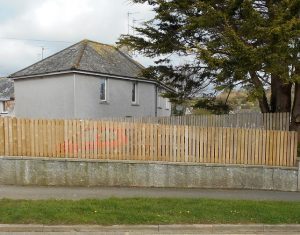 West Cornwall Fencing. Close picket boundary fencing.